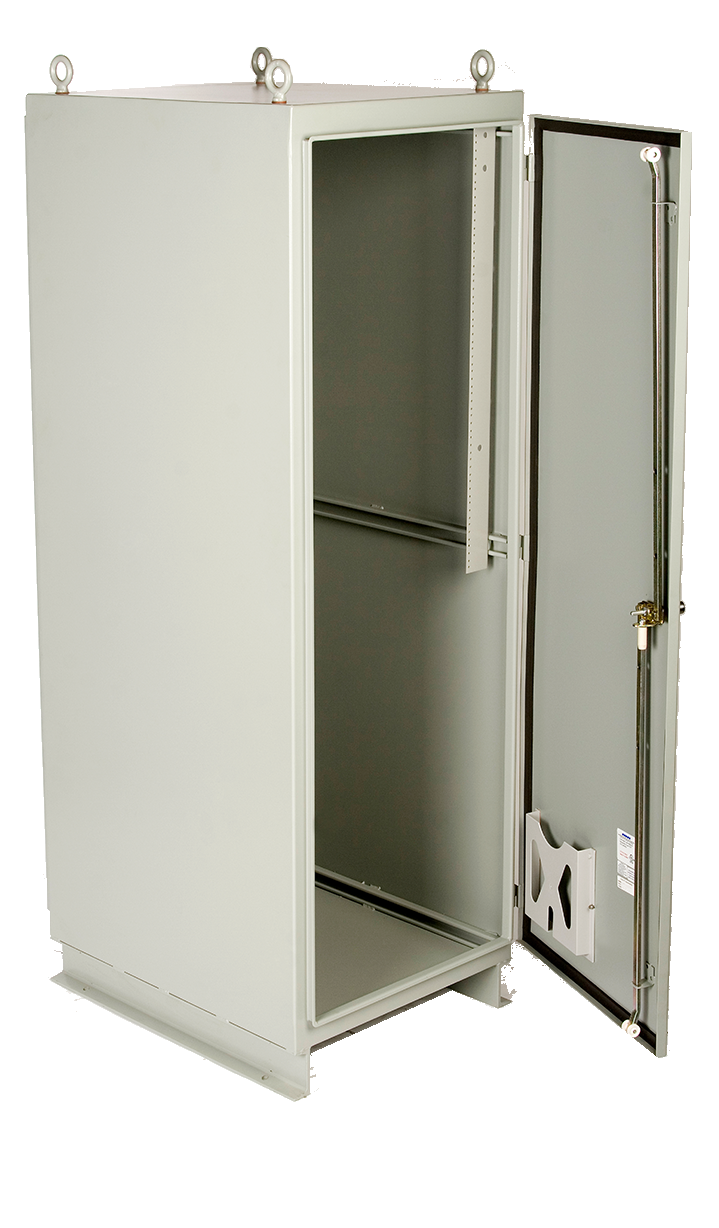 Puma series white enclosure that's open up in the front